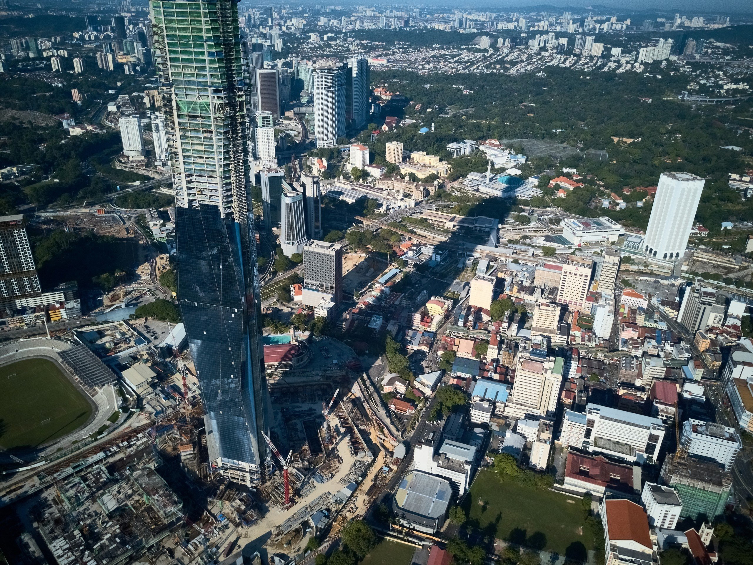 An aerial view of the PNB 118 -  construction will be completed by end of 2020