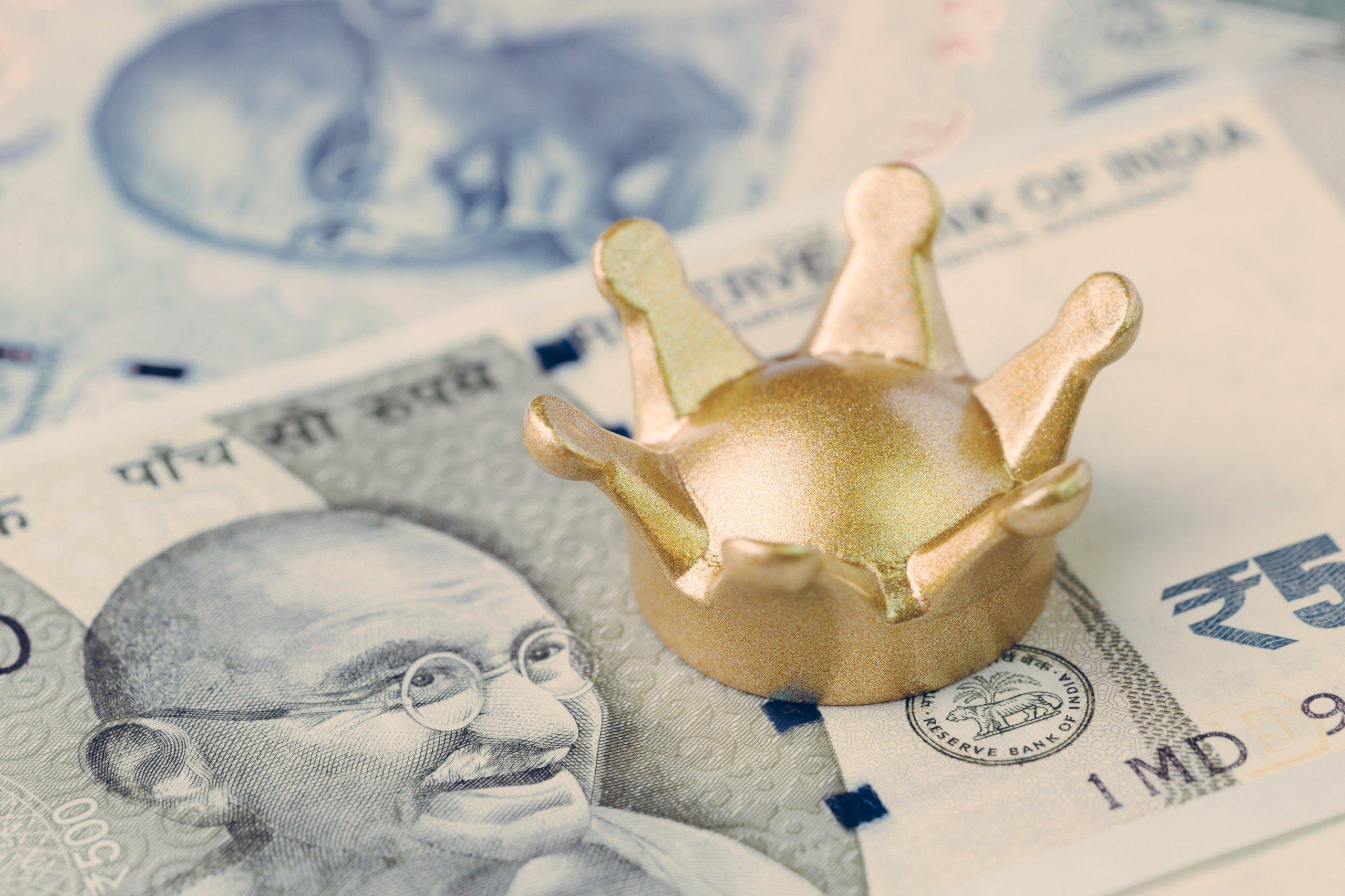 India rupee bank notes